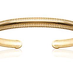 Jonc Will en plaqué or 18K 3 microns Aimée Private Collection bracelet femme influenceuse bijoux fantaisie