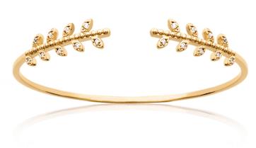 Jonc Autumn en plaqué or 18k 3 microns, micro serti de brillants Aimée Private Collection nouveau modèle influenceuse bijoux fantaisie