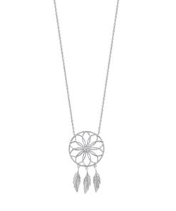 Collier Hannah argent 925 rhodié étoile et plumes Aimée Private Collection tendance influenceuse bijoux fantaisie