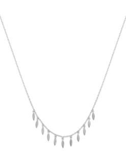 Collier Palmi argent 925 rhodié feuilles Aimée Private Collection tendance influenceuse bijoux fantaisie mode