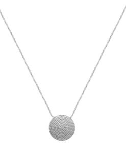 Collier Fuji argent 925 rhodié rond Aimée Private Collection tendance influenceuse bijoux fantaisie mode