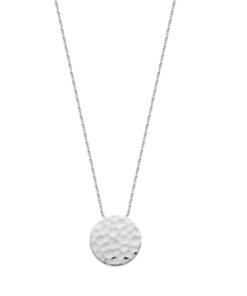 Collier Tim argent 925 rhodié rond martelé Aimée Private Collection tendance influenceuse bijoux fantaisie mode