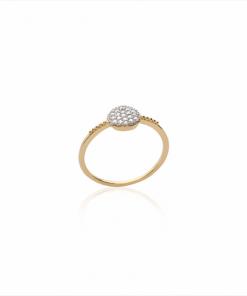 Bague Ibiza plaqué or 18K 3 microns pavage diamants zirconium Aimée Private Collection nouveau modèle influenceuse tendance élégance belle bague