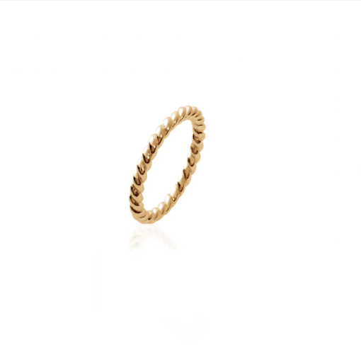 Bague Tory en plaqué or 18k 3 microns torsadée Aimée Private Collection nouveau modèle influenceuse tendance élégance bijoux fantaisie