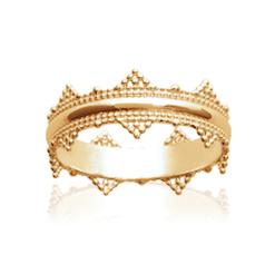 Bague Reine plaqué or 18K 3 microns couronne Aimée Private Collection nouveau modèle influenceuse tendance