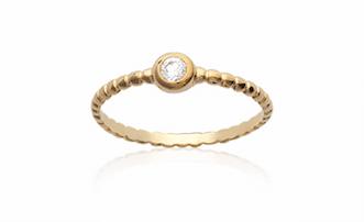 Bague Faro en plaqué or 18k 3 microns serti diamant en oxyde de zirconium Aimée Private Collection nouveau modèle influenceuse tendance élégance