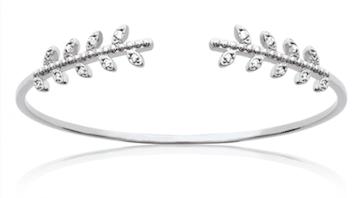 Jonc Autumn en argent 925 rhodié micro serti de brillants Aimée Private Collection nouveau modèle influenceuse bijoux fantaisie