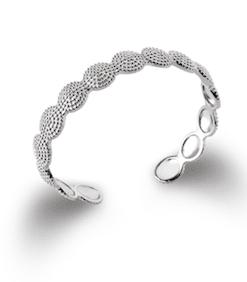 Jonc Fuji en argent 925 rhodié Aimée private collection bijoux tendance mode influenceuse