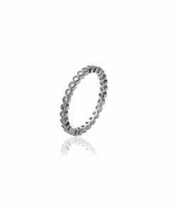 Bague Venus en argent 925 rhodié micro serti de diamants zirconium Aimée Private Collection nouveau modèle influenceuse tendance élégance belle bague
