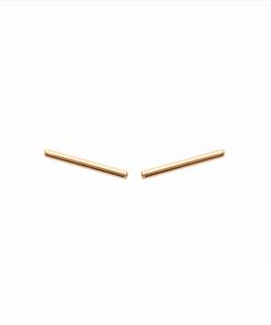 Boucles d'oreilles Miki plaqué or 18K 3 microns Barre Aimée Private Collection nouveau tendance influenceuse mode top
