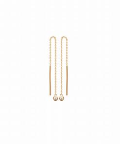 Boucles d'oreilles chaine Dali plaqué or 18K 3 microns micro serti Diamant Zirconium Aimée Private Collection nouveau tendance influenceuse