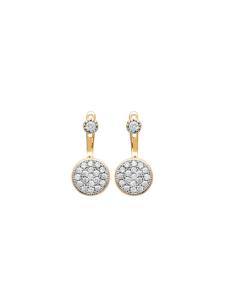Boucles d'oreilles Ibi plaqué or 18k serti Diamant Zirconium Aimée Private Collection nouveau tendance influenceuse