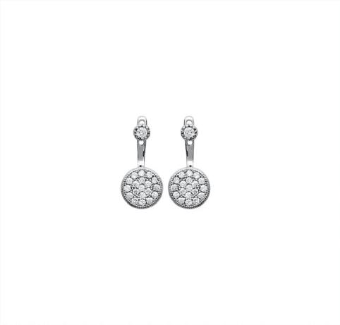 boucles d'oreilles Ibiza en argent 925 rhodié micro serti de brillants Aimée Private Collection nouveau modèle influenceuse