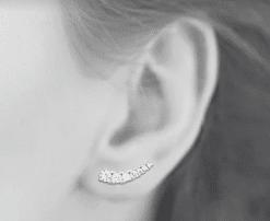 boucles d'oreilles Piaf en argent 925 rhodié micro serti de brillants Aimée Private Collection nouveau modèle influenceuse
