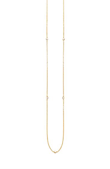 Sautoir Saturne plaqué or Aimée Private Collection bijoux tendances