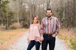 couple holding hands during middle georgia engagement session