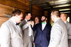 Middle Georgia Wedding, Plantation Farms wedding, bride and groom, wedding day, farm wedding, garden wedding, groom with groomsmen laughing and getting dressed