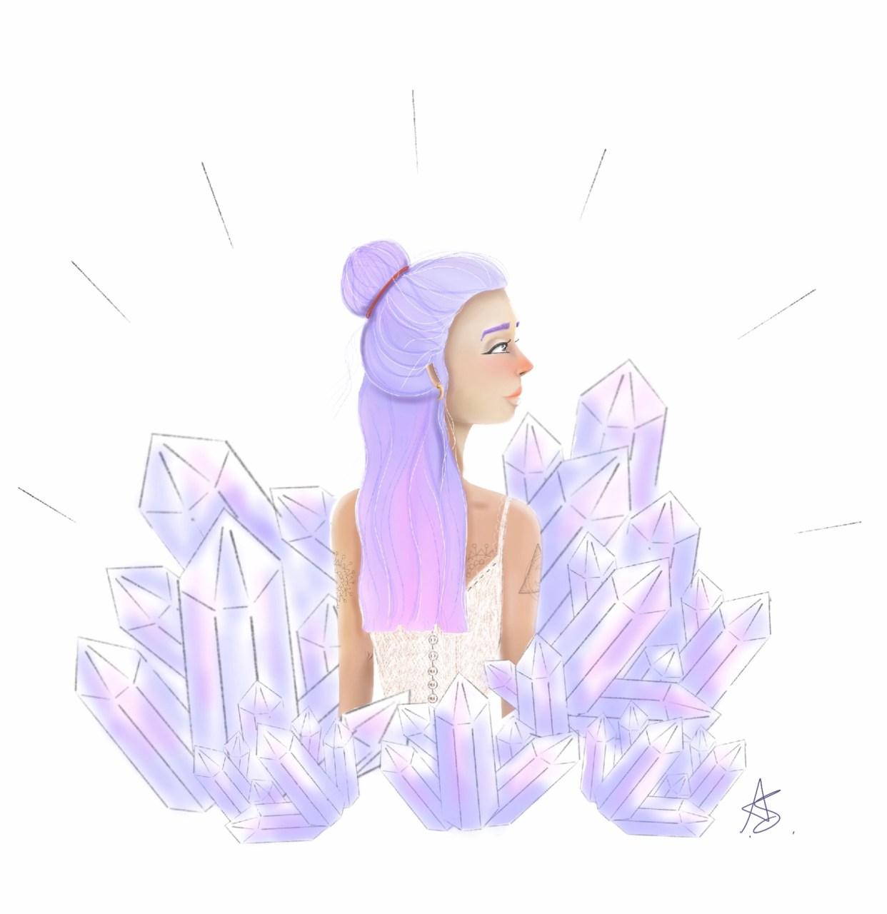 crystals spirituality illustration cornwall illustrator newquay