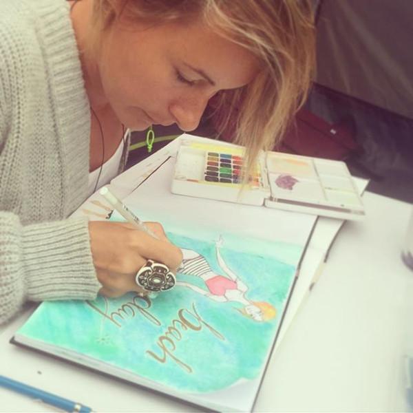 Female Illustrator Artist Aimee Stapleford Cornwall Illustrator