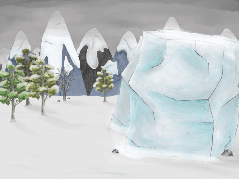 second puzzle- ice wall full