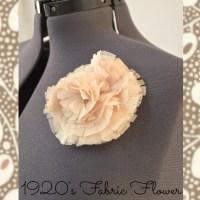 1920's Fabric Flower Tutorial