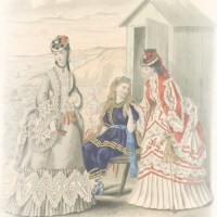 Seaside Dresses of the 1870's