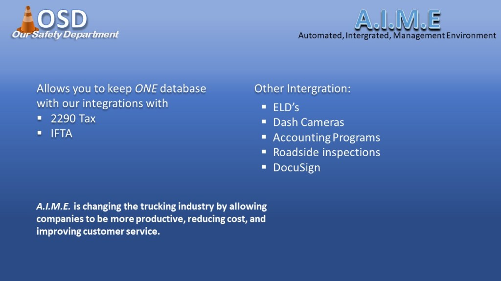 Automated Integrated Managment Environment - Fleet Management Software