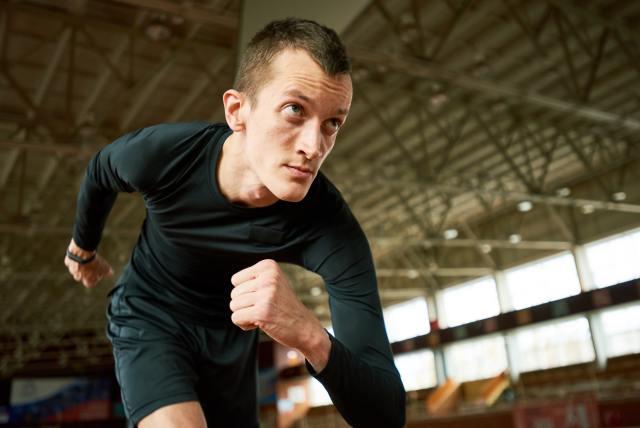 Motivated Runner on Start