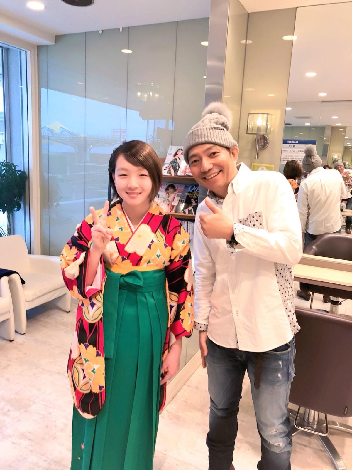 小学生卒業式の袴の着付もやってます!