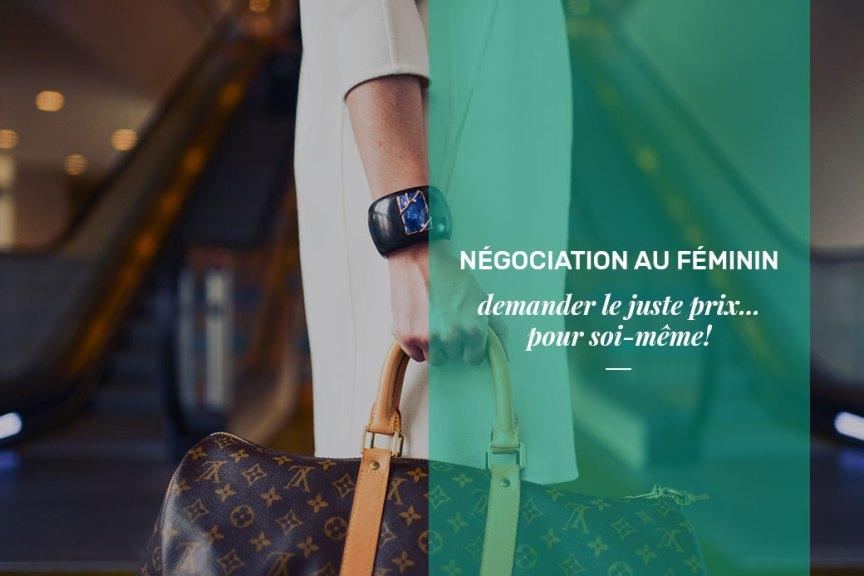 Négociation au féminin, demander le juste prix