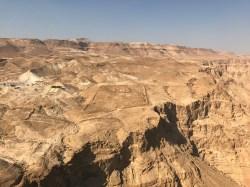 Roman camp as seen from atop Masada
