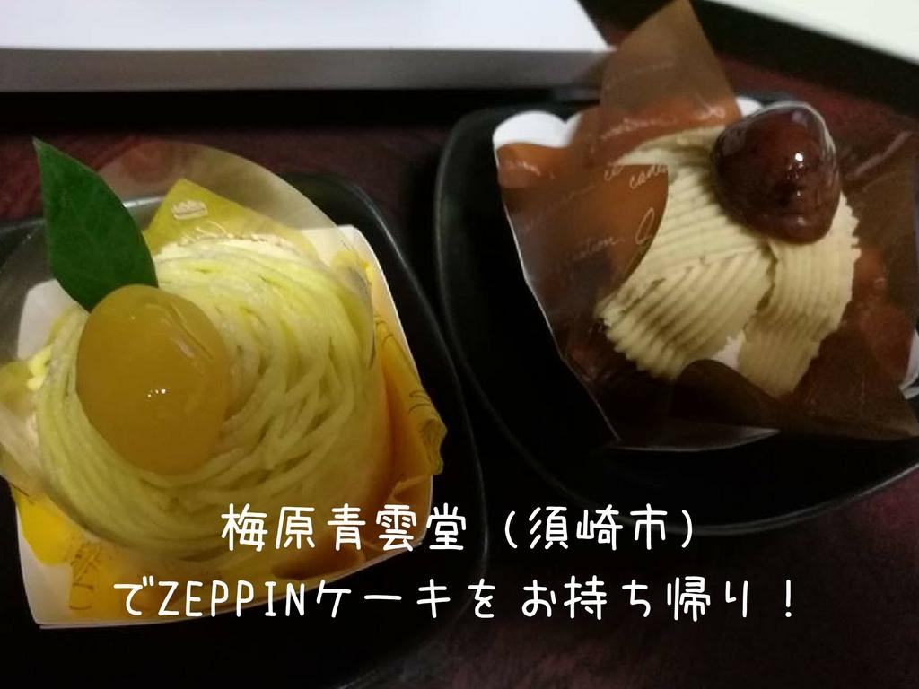 梅原青雲堂 (須崎市)でZEPPINケーキをお持ち帰り!