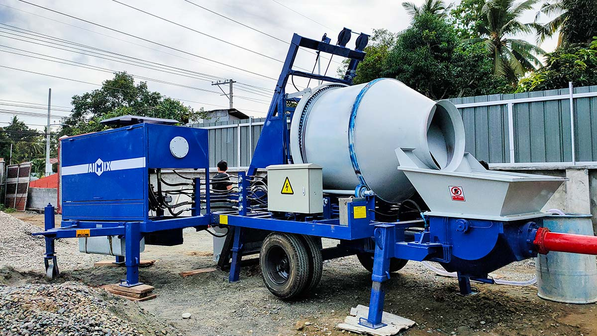 Pam Pengadun Konkrit Diesel ABJZ40C Di Davao Filipina