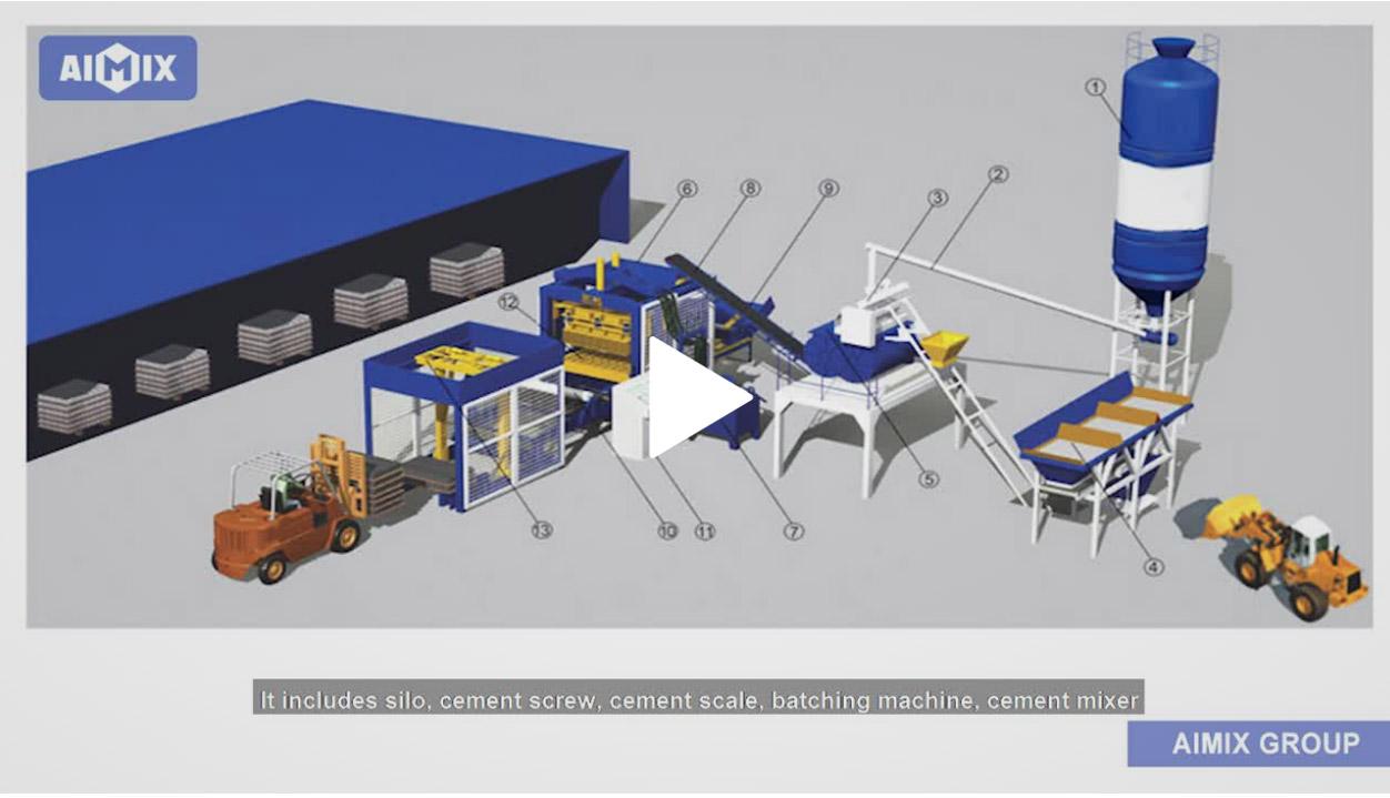 Brick making machine video
