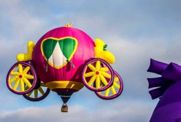 Interesting shaped hot air balloons: Pink Hot Air Balloon Photo.