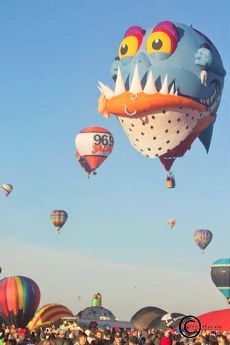 Interesting shaped hot air balloon, The Albuquerque International Balloon Fiesta