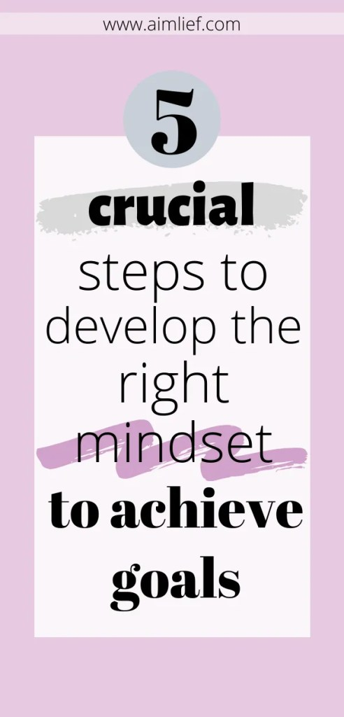 right mindset to achieve goals