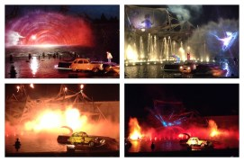 30min water, lights & pyrotechnics show