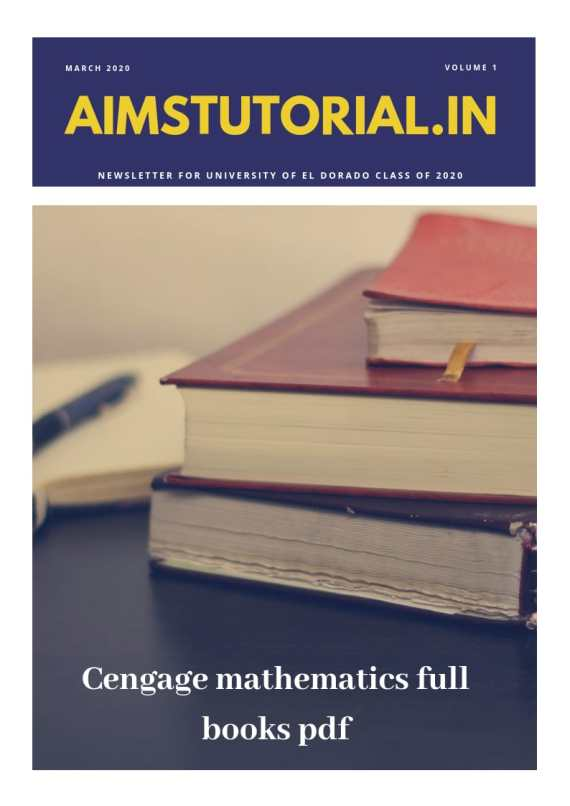 CENGAGE MATHEMATICS FULL BOOKS PDF - Aims Tutorial (10+2)