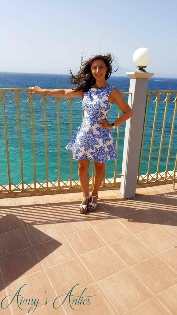 Stood overlooking the sea