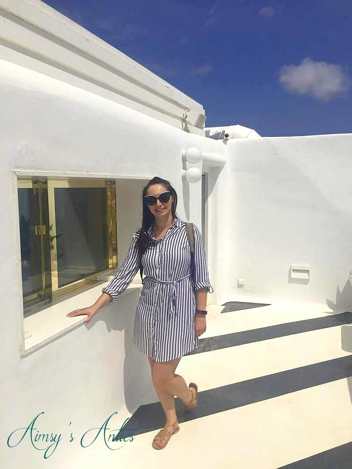 Girl standing in Mykonos