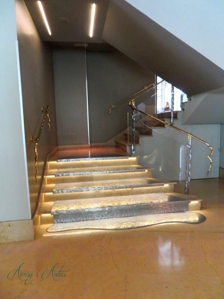Staircase inside Santo Domingo Hotel, Madrid