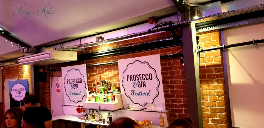 One of the bar areas at the prosecco and gin festival and New Craven Hall, Leeds