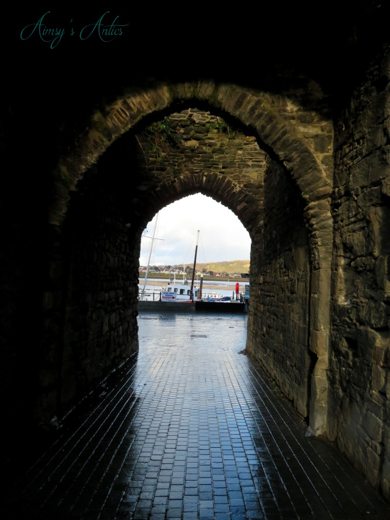 Archway to the quayside of Conwy