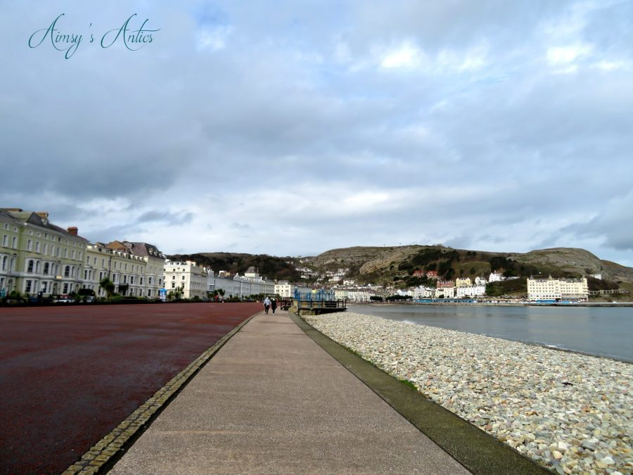 View of Llandudno with the beach to the right handside of the shot