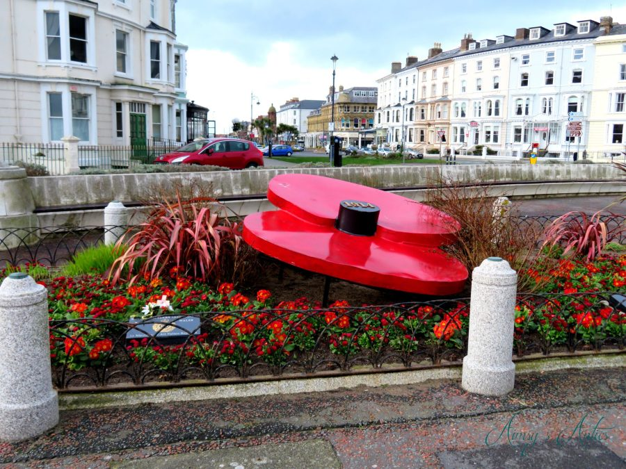 Poppy memorial in Llandudno