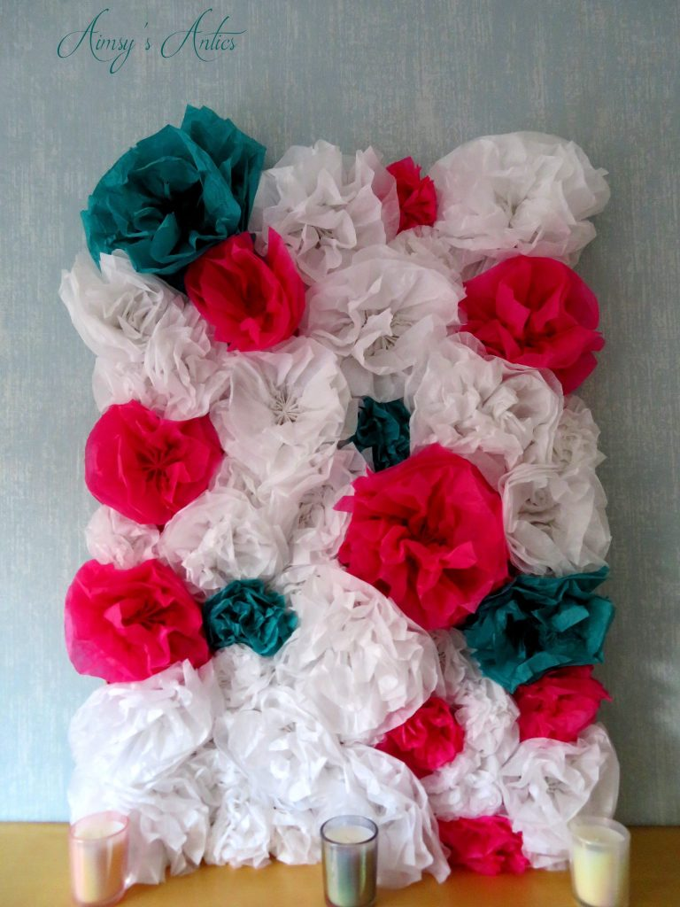 Paper flower Wall - end result