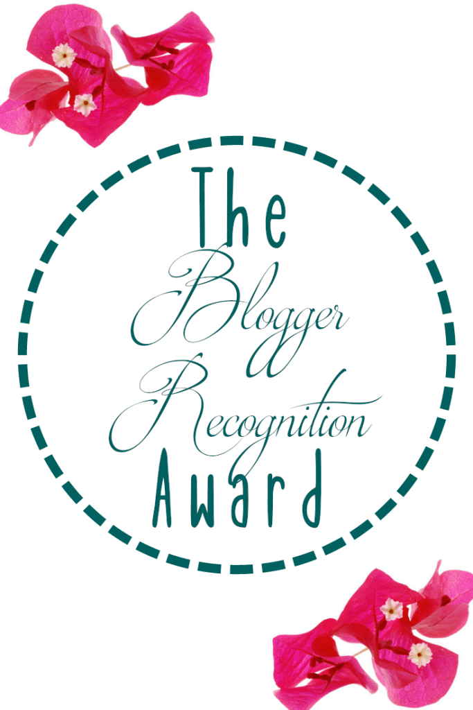 The Blogger Recognition Award - www.aimsysantics.co.uk
