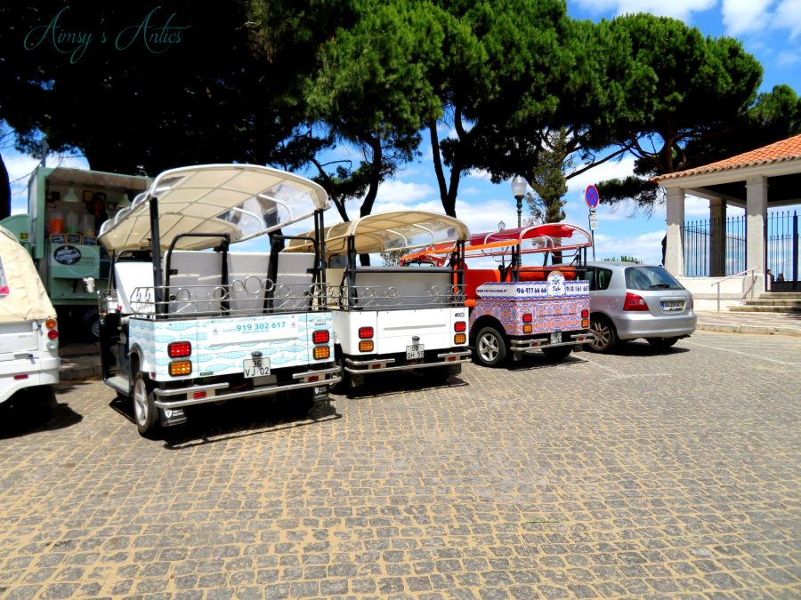 Tu-Tuks parked up in Lisbon