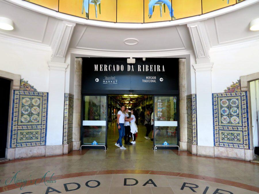 Entrance to Mercado Da Ribeira / Time Out Market in Lisbon